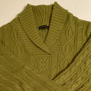 Olive green heavier weight cotton sweater